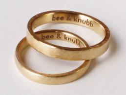 klare Lasergravur in Eheringen aus Fairmined Eco Gold