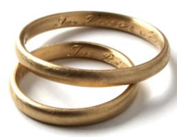 Beispielgravur für Eheringe aus öko-fairtrade Gold